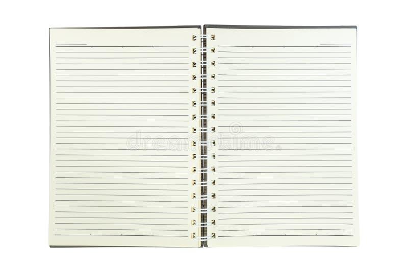 carnet de notes spirale avec la ligne papier d 39 isolement sur le blanc photo stock image du. Black Bedroom Furniture Sets. Home Design Ideas