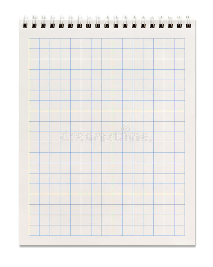 Carnet de notes à spirale carré image stock