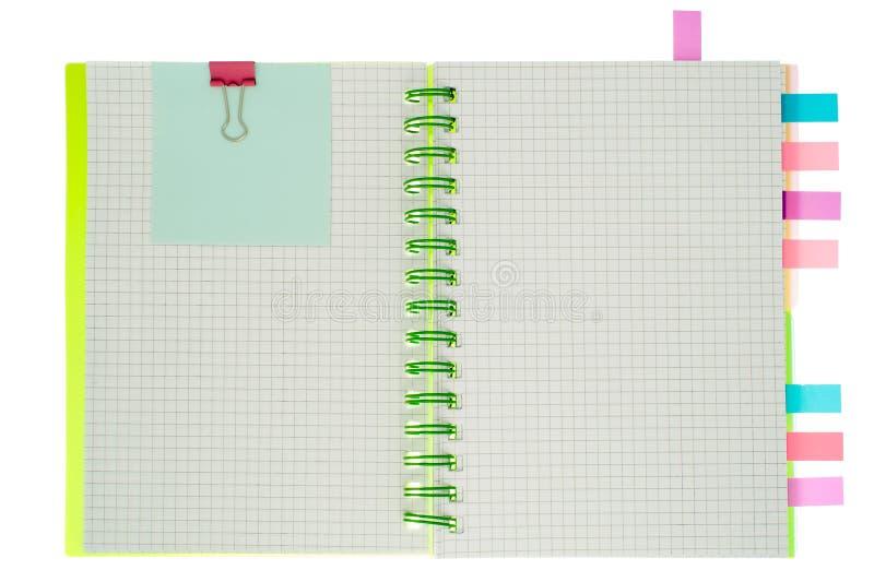 Carnet de notes à spirale d'isolement image libre de droits