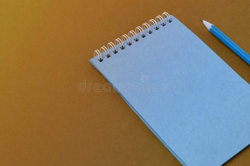 Carnet de notes à spirale de vue supérieure photographie stock