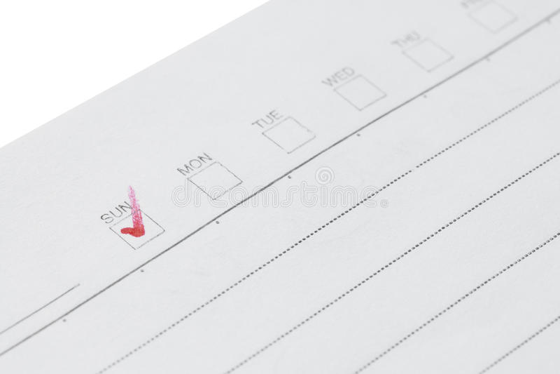 Download Carnet De Papier Avec La Liste De Contrôle Image stock - Image du note, page: 76086235
