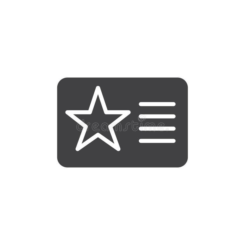 Carnet de socio con vector del icono de la estrella libre illustration