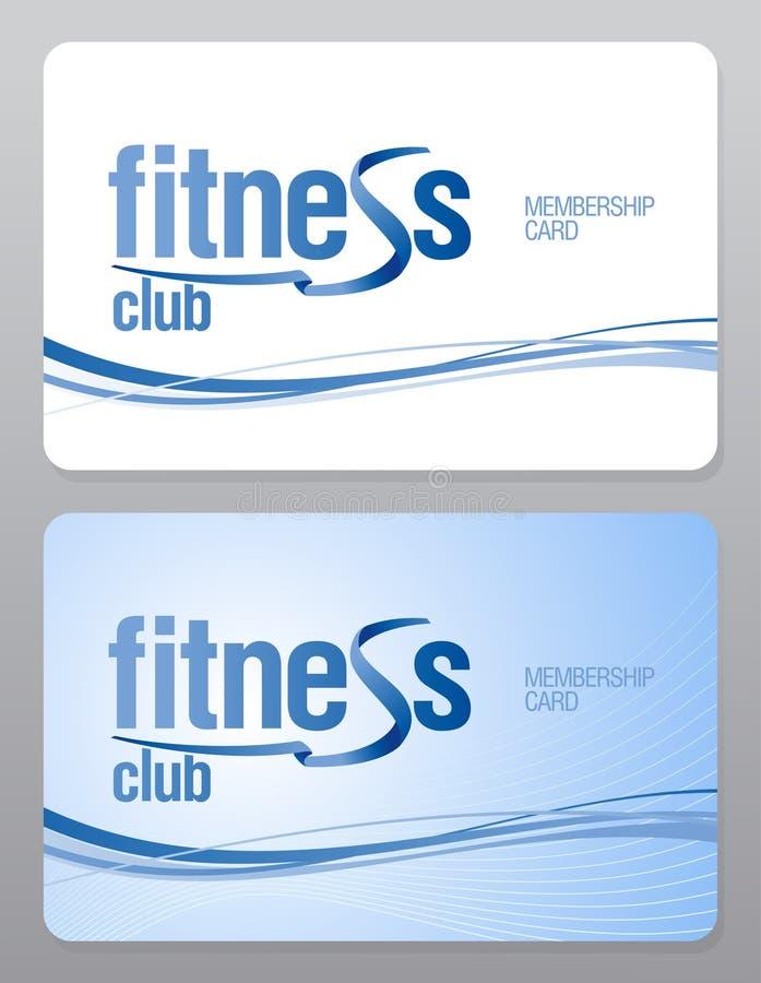 Carnet de socio del club de fitness. stock de ilustración