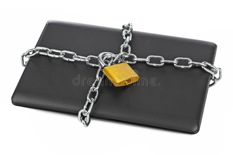 Carnet et chaînes images stock