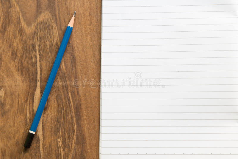 Download Carnet Vide Avec Le Crayon Sur La Table En Bois, Concept D'affaires Photo stock - Image du idée, crayon: 87709428