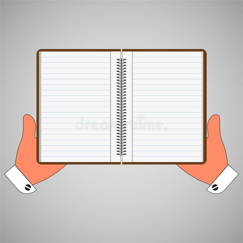 Carnet vide, journal intime à disposition illustration de vecteur