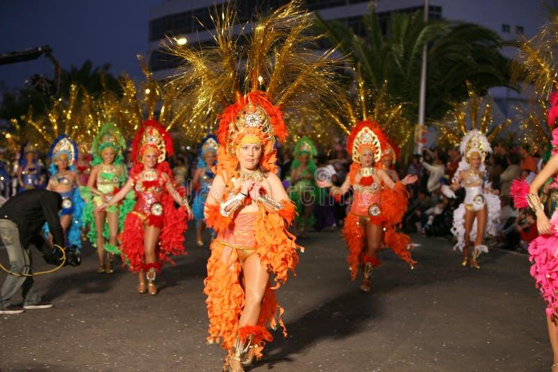 Carnevale a Arrecife Lanzarote 2009 immagine stock