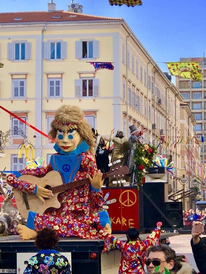 Carnevale Croazia 2018 di Rijeka fotografia stock libera da diritti