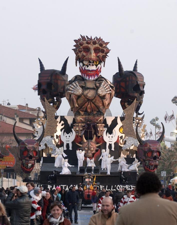 Carnevale del Viareggio fotografia stock