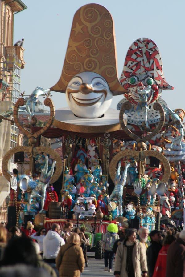 Carnevale del Viareggio fotografia stock libera da diritti