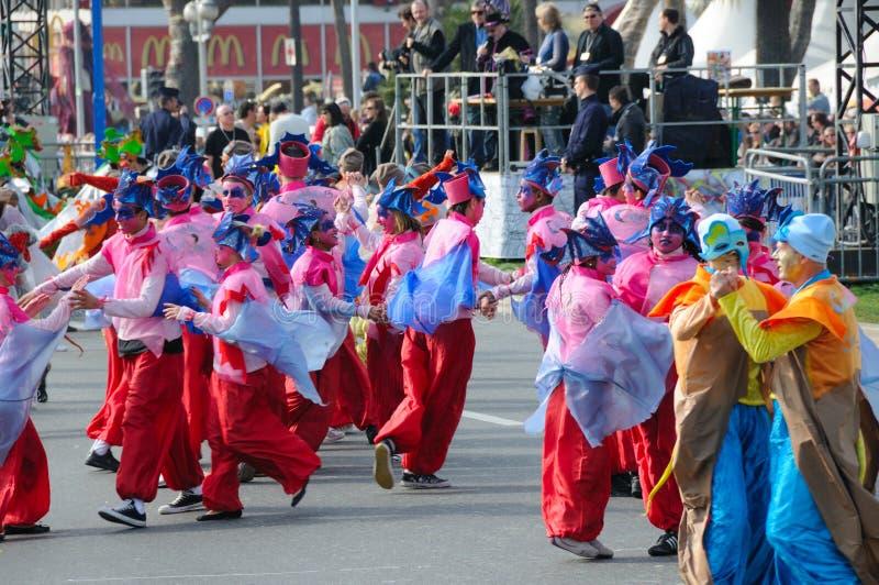 Carnevale di Nizza, Francia. immagine stock