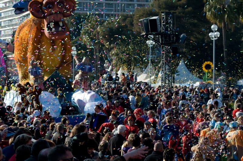 Carnevale di Nizza, Francia. immagine stock libera da diritti