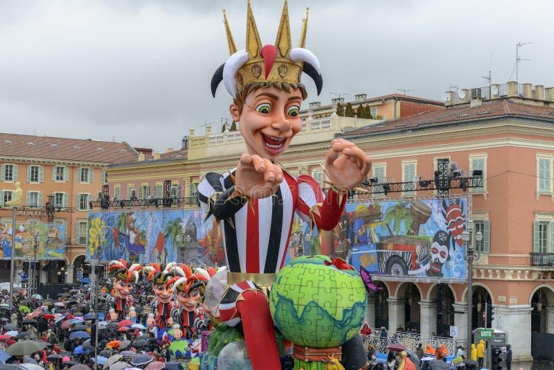 Carnevale di Nizza in Riviera francese immagine stock