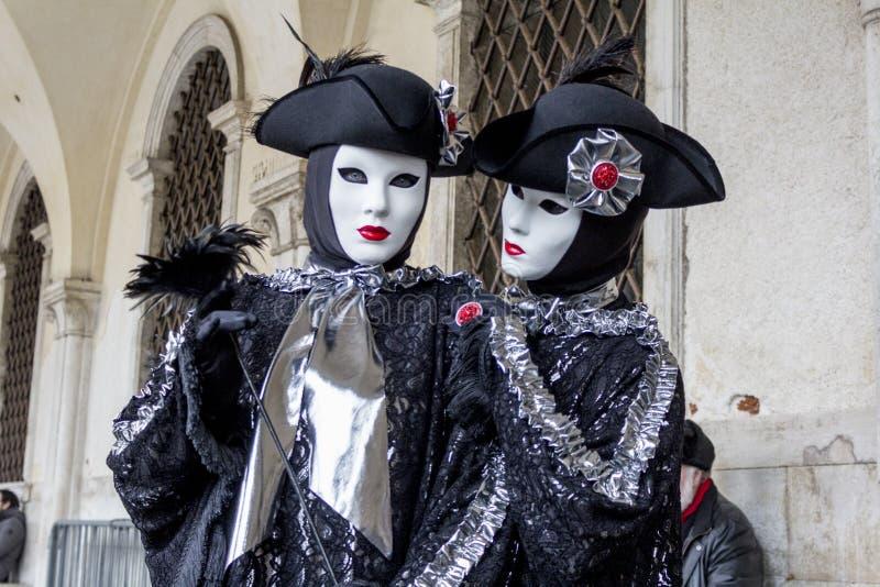 carnevale di venezia royaltyfria foton