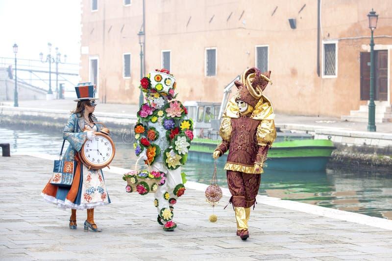 Carnevale 2017 di Venezia Mascherine veneziane Venezia, Italia Il carnevale è l'evento più importante dell'anno a Venezia immagine stock