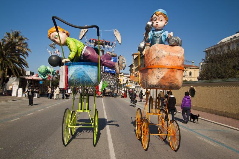Carnevale di Viareggio fotografia stock libera da diritti