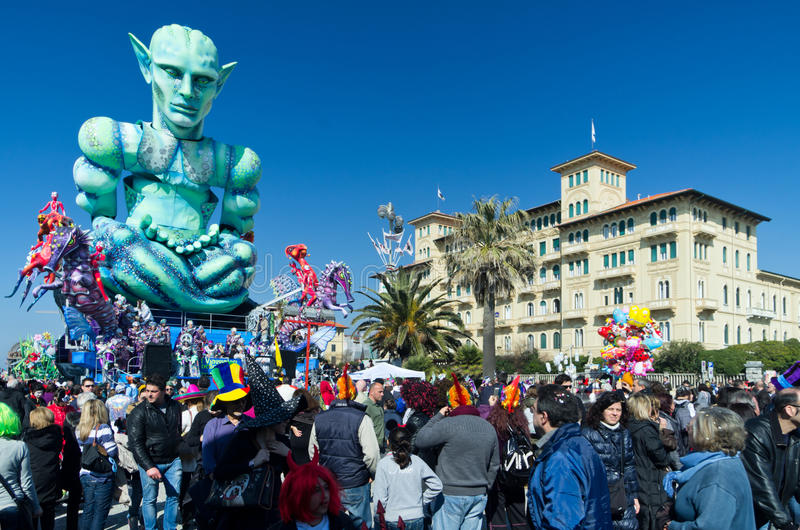 Carnevale di viareggio 2011 immagine stock libera da diritti