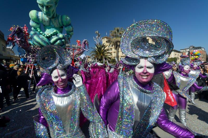 Carnevale di viareggio 2011 fotografie stock