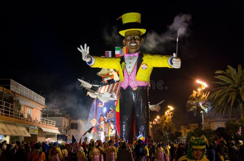 Carnevale di Viareggio 2011 immagine stock