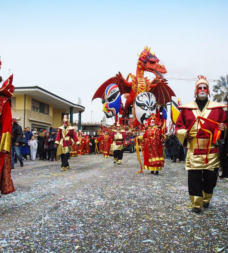 Carnevale di Viareggio al Drago cinese стоковые изображения rf