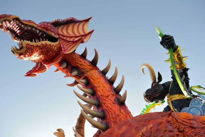 Carnevale di Viareggio di carnevale fotografia stock libera da diritti