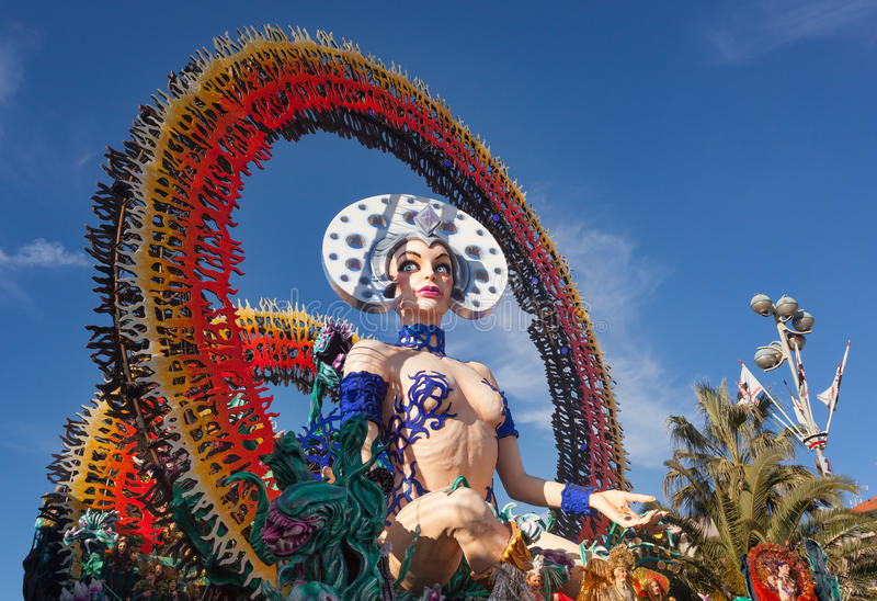 Carnevale di Viareggio, Toscana, Italia immagine stock