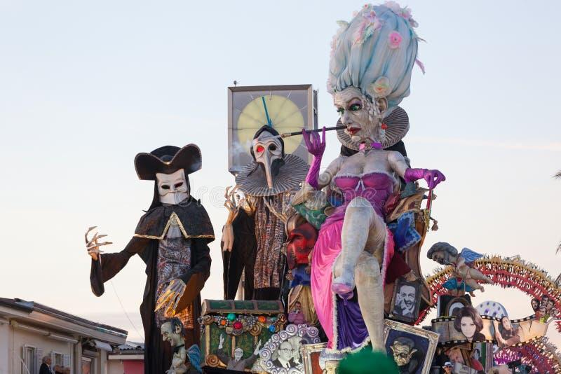 Carnevale di Viareggio, Toscana, Italia immagini stock libere da diritti