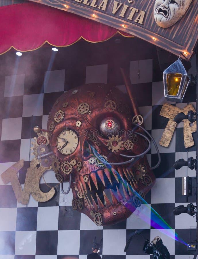 Carnevale di Viareggio, Toscana, Italia fotografie stock libere da diritti