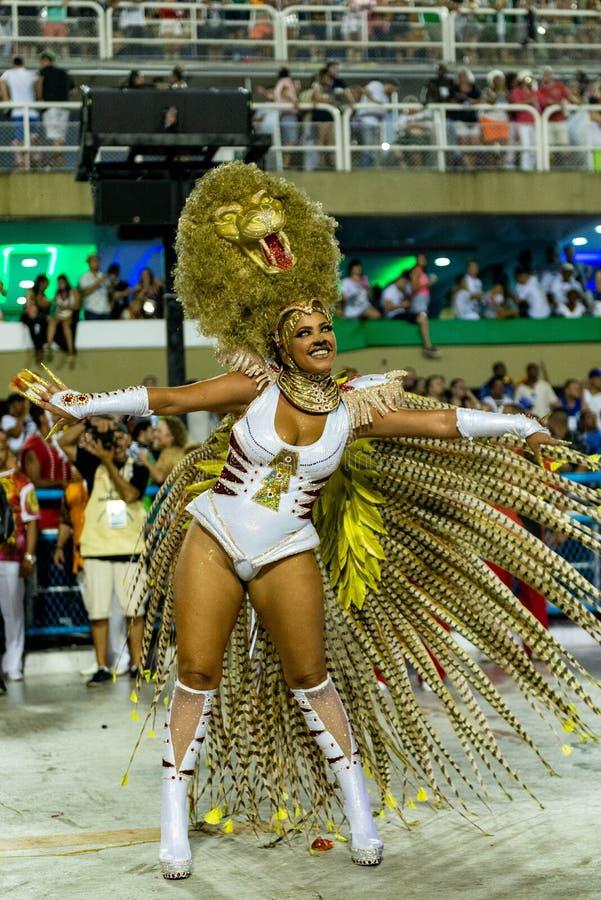 Carnevale 2019 - Estacio de Sa immagini stock libere da diritti