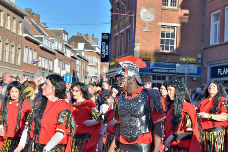 Carnevale in Nivelles 2014 fotografia stock libera da diritti