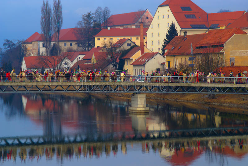 Carnevale in Ptuj, Slovenia immagine stock libera da diritti