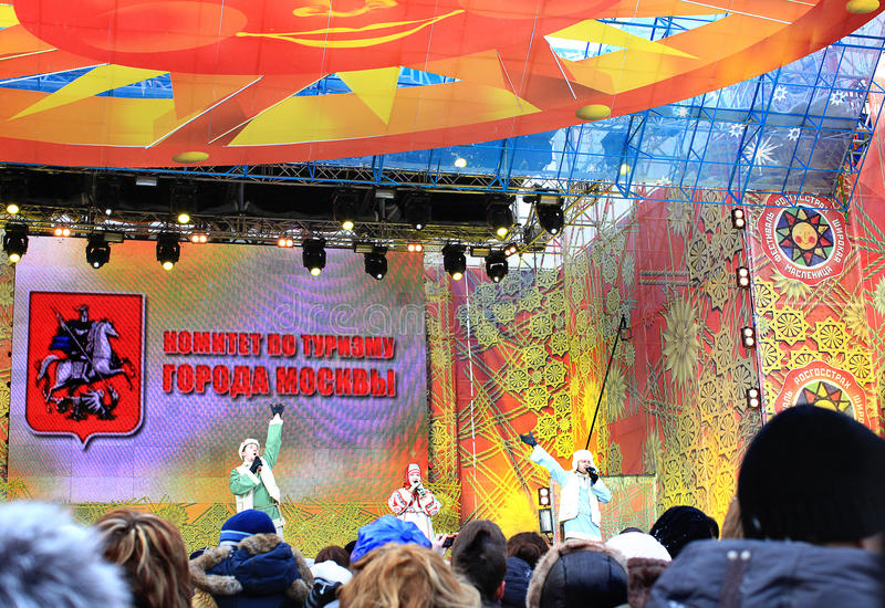 Carnevale russo (Maslenitsa) 2011, Mosca immagine stock libera da diritti