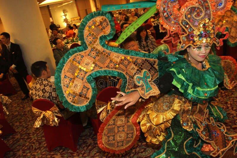 Carnevale solo del batik di aspetto fotografia stock