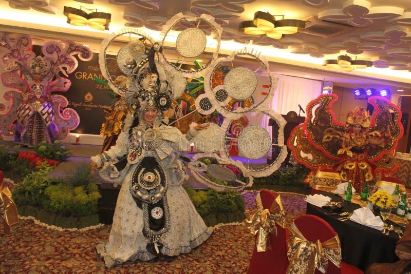 Carnevale solo del batik di aspetto immagine stock libera da diritti
