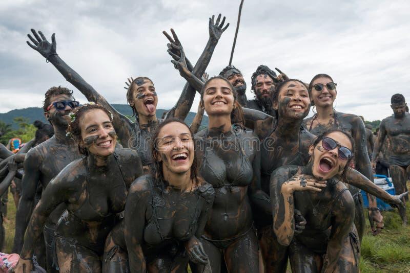 """Carnevale sporco del †della lama di Bloco da """"in Paraty, Rio de Janeiro State fotografie stock"""