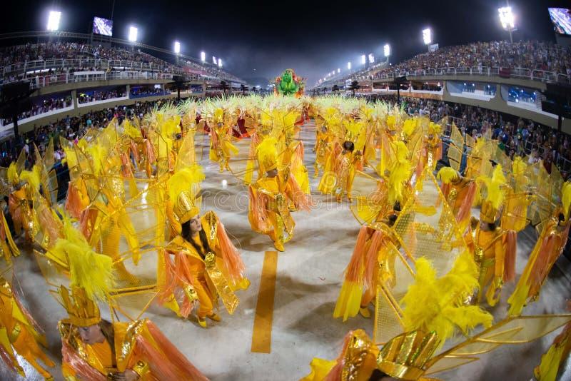 Carnevale 2019 - Unidos de Bangu fotografia stock libera da diritti