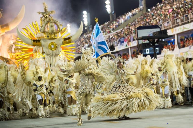 Carnevale 2016 - Unidos de Vila Isabel fotografia stock libera da diritti