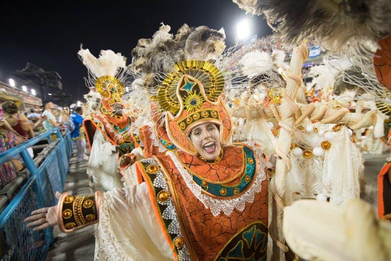 Carnevale 2016 - Vila Isabel fotografia stock