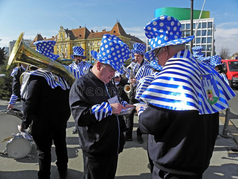 Carnevale a Zagabria, 4 immagine stock