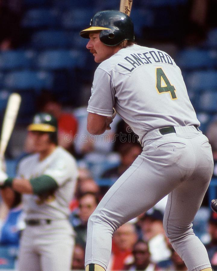 Carney Lansford, Oakland Athletics image libre de droits