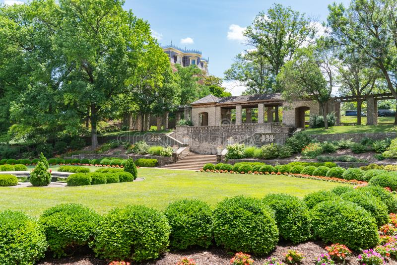 Carnhan Memorial Garden on the grounds of the Governor`s Mansion stock image