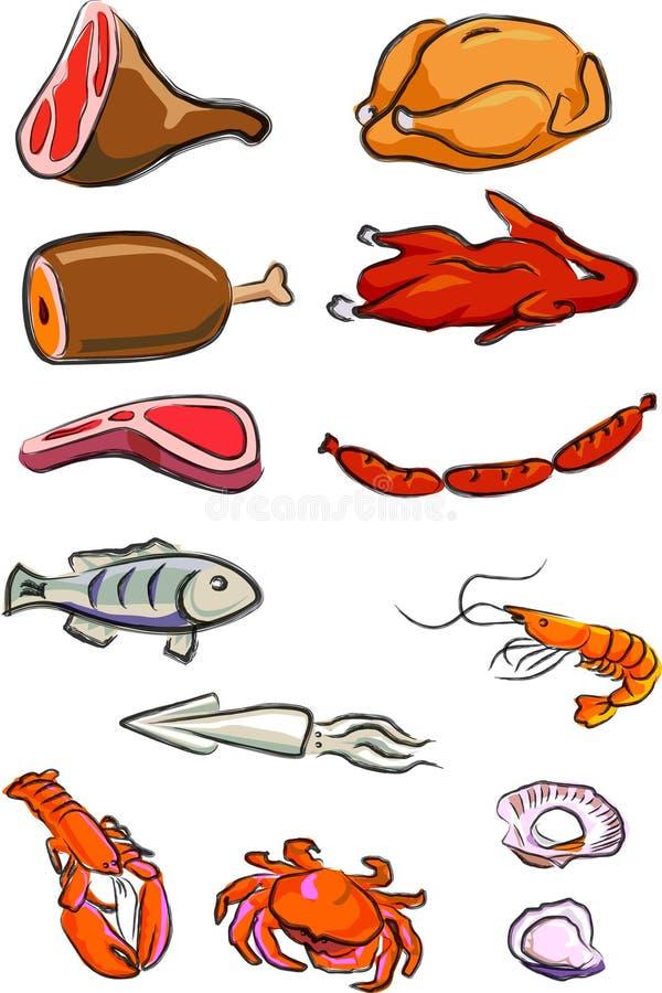 Carni royalty illustrazione gratis