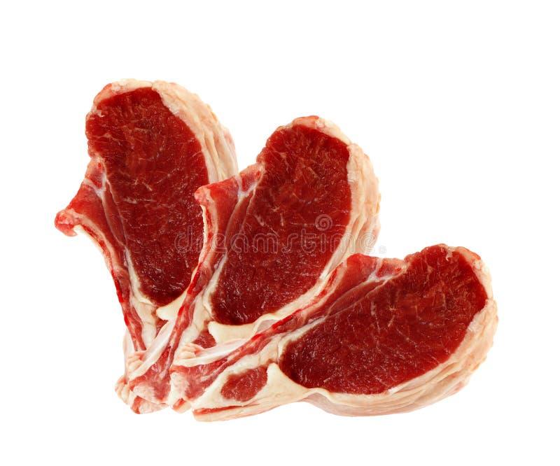 Carni crude isolate fotografia stock