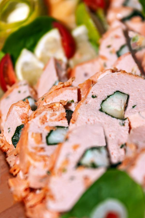 Carni e verdure fredde immagini stock