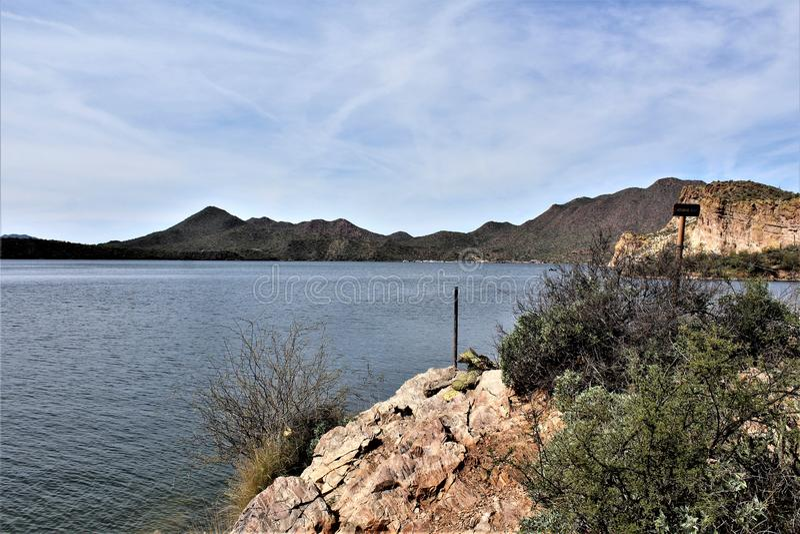Carniceiro Jones Beach, floresta nacional de Tonto, o Arizona, Estados Unidos imagem de stock