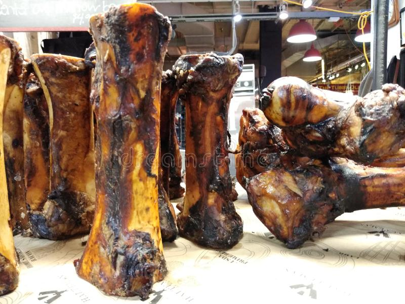 Carniceiro Shop Bones, lendo o mercado terminal, Philadelphfia, PA, EUA imagem de stock royalty free