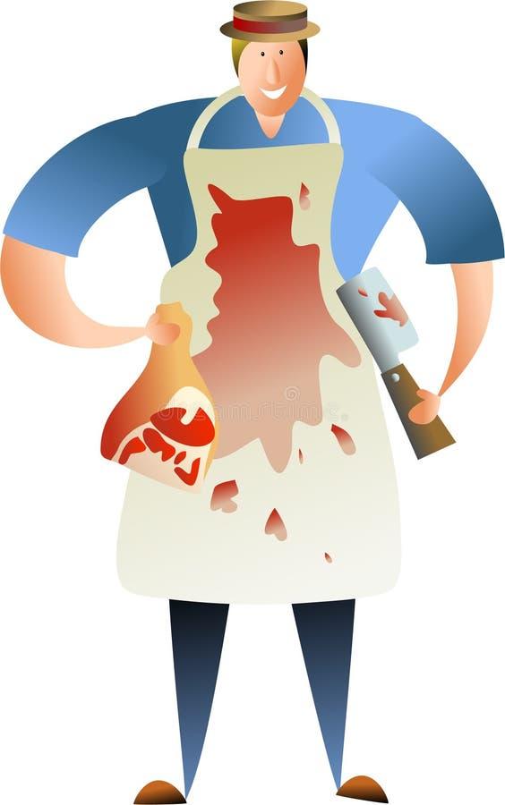Carnicero ilustración del vector