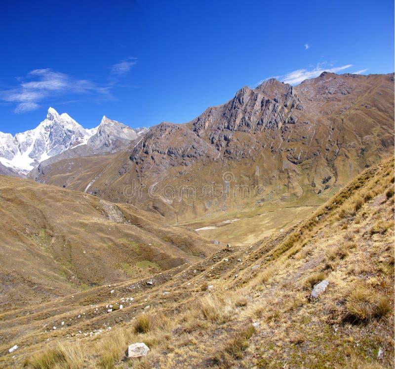 Carnicero, the Cordillera Huayhuash royalty free stock images