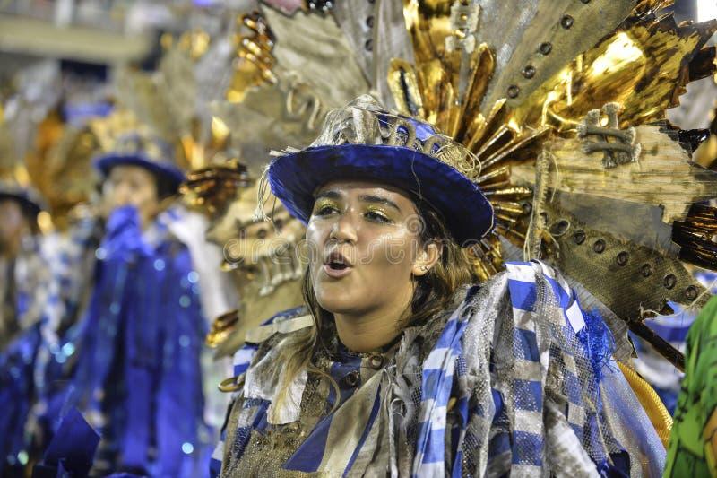 Carnival 2018 – Beija -Flor. RIO DE JANEIRO, RJ /BRAZIL - FEBRUARY 13, 2018: Samba School parade in Sambodromo. Beija-Flor de Nilópolis during festival royalty free stock photos