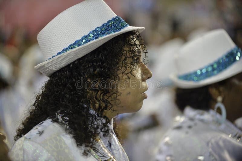 Carnival 2018 – Beija -Flor. RIO DE JANEIRO, RJ /BRAZIL - FEBRUARY 13, 2018: Samba School parade in Sambodromo. Beija-Flor de Nilópolis during festival stock photography